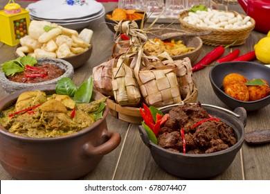 rendang padang, beef meat curry, Indonesian food