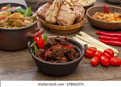 Rendang Padang, Famous Indonesian food,