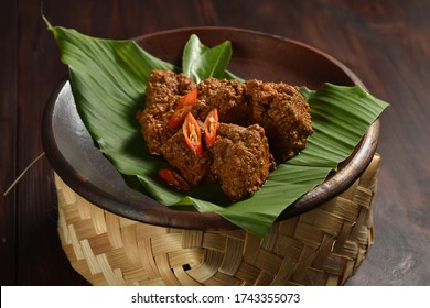 Rendang Padang. Spicy beef stew from Padang, Indonesia. The popular Indonesian traditional food