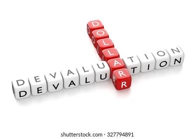 Render of crossword Dollar Devaluation