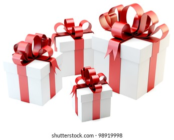 render of gift boxes