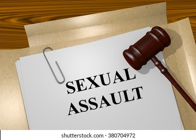 Render illustration of Sexual Assault title on Legal Documents