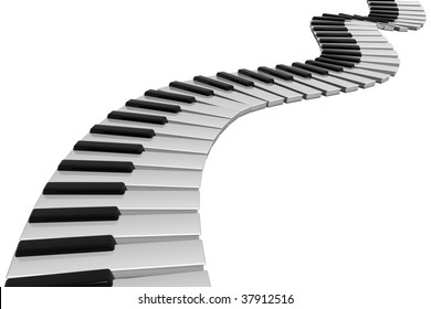 render of a piano keyboard