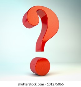 render of a red question mark