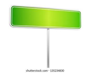 render of a road sign, isolated on white