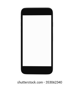 Render of smart phone with blank screen