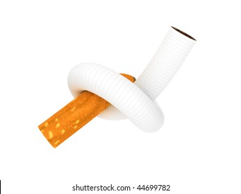 Render of tied in a bundle cigarettes