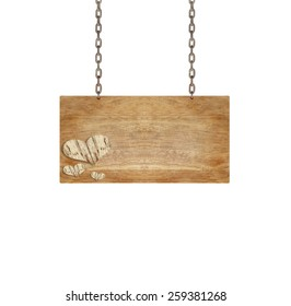 render of a wood sign