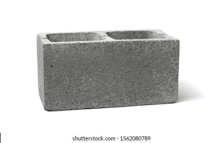 Rendering of cinder block isolated on white background