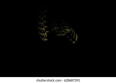 Rendering fractal background abstract illustration