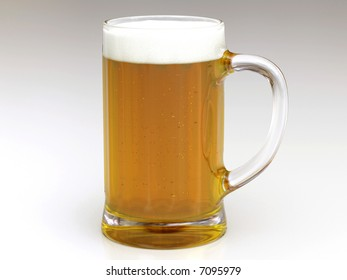 rendering of glass of beer