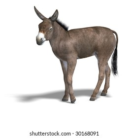 Rendering of a mule with Clipping Path over white
