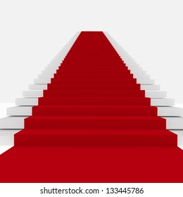 Rendering of Red Carpet Stairs - Stairway to Fame