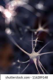 Rendering of a synapse
