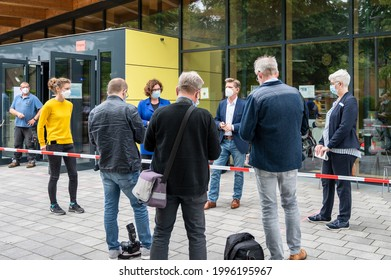 Rendsburg, Germany 23. Jun. 21 The Minister of Health of the Schleswig-Holstein State Government Dr. Heiner Garg opens new mobile corona vaccination offer
