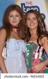 RENEE OLSTEAD (left) & singer JOJO at the 2004 Teen Choice Awards at Universal Studios, Hollywood. August 8, 2004