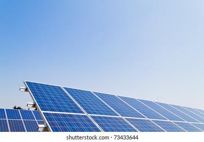 Renewable, alternative solar energy. Solar energy power plant.