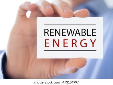 Renewable energy - business card