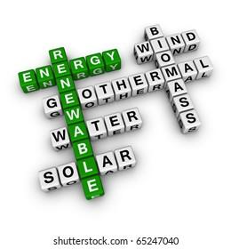 renewable energy cubes crossword