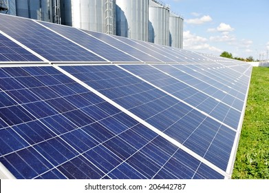 Renewable energy industry detail with photovoltaic panel