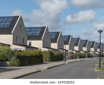Renewable energy / A new housing development where every house has solar panels fitted
