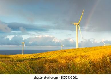 renewable energy rainbow wind turbine exit nuclear