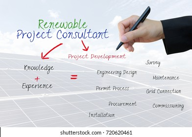 Renewable Project Consultant  for business concept