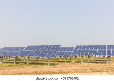 renewable solar energy Power plant : The concept of renewable energy. Clean energy Environmentally friendly The solar farm.