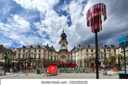 Rennes City Hall, Rennes, France - September 24, 2019: Rennes is the prefecture of the Brittany region, north-west of France.