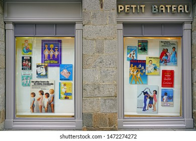 RENNES, FRANCE -23 JUL 2019- View of a Petit Bateau store in Rennes, France. Petit Bateau is a French clothes retailer.