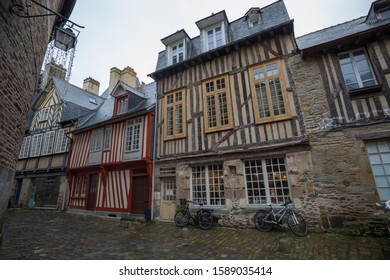 Rennes, France - 25 November 2019: Historic buildings in the old city centre of Rennes