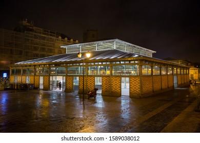 Rennes, France - 25 November 2019: Marjet building in the old city centre of Rennes