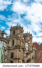 RENNES, FRANCE - April 28, 2018: Cathedral Saint-Pierre of Rennes in Rennes, France