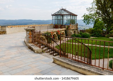 Rennes le Chateau, France - June 3, 2019: Saunier's Greenhouse, The mystery of the Cathars, The Holy Grail, Templars.