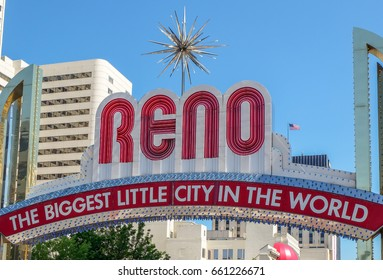 Reno Arch sign in Reno, Nevada