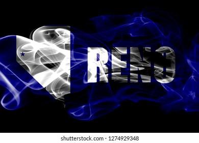 Reno city smoke flag, Nevada State, United States Of America