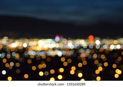 Reno, Nevada Downtown Skyline Blur