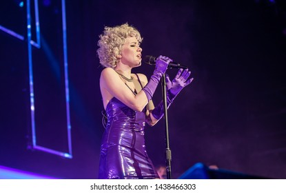 Reno, Nevada - June 29, 2019: Carly Rae Jepsen performs a live concert on The Dedicated Tour.
