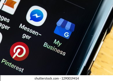 RENO, NV - January 16, 2019: Google My Business Android App on Galaxy Screen. App is used for small business advertising.
