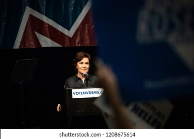 Reno, NV - June 23, 2018 - Jacky Rosen Speaking At Nevada State Democratic Convention With Political Sign