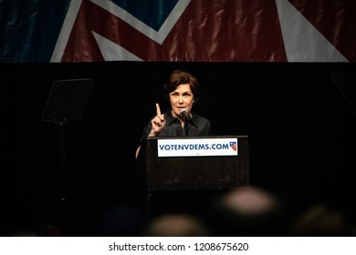 Reno, NV - June 23, 2018 - Jacky Rosen Pointing At Nevada State Democratic Convention