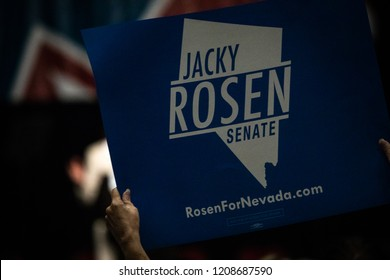 Reno, NV - June 23, 2018 - Political Sign Jacky Rosen For Senate At Nevada State Democratic Convention