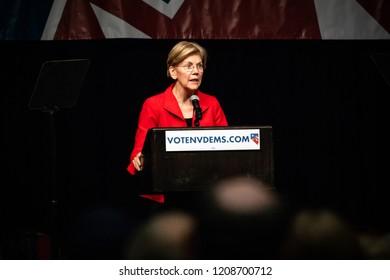 Reno, NV - June 23, 2018 - Elizabeth Warren Addressing Crowd At Nevada State Democratic Convention