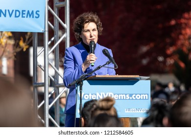 RENO, NV - October 25, 2018 - Jacky Rosen at a political rally on the UNR campus.