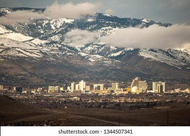 Reno, NV / USA - March 20 2019: Reno Skyline