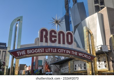 RENO - SEPTEMBER 05 : The Reno entrance sign on September 05, 2011. The original sign was built in 1926 to promote the Nevada Transcontinental Highway Exposition. The sign was last replaced in 1987.