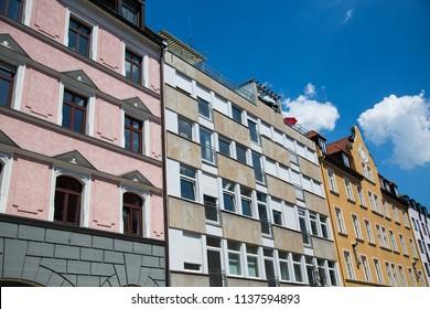 renoaded old building in Munich
