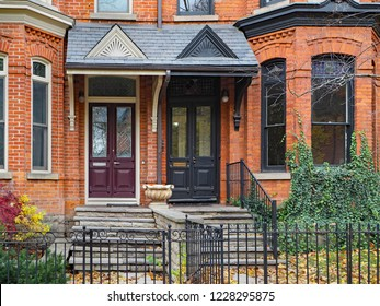 renovated and gentrified old Victorian townhouses