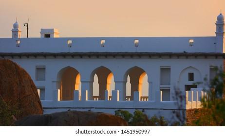 Renovated historic Golconda fort in India