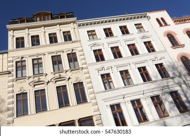 Renovated historic houses in the town of Goerlitz, Germany. The town of Goerlitz is in the former East Germany just next to the Polish border.